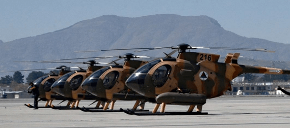 Image result for Afghanistan air force new attack helicopter MD-530