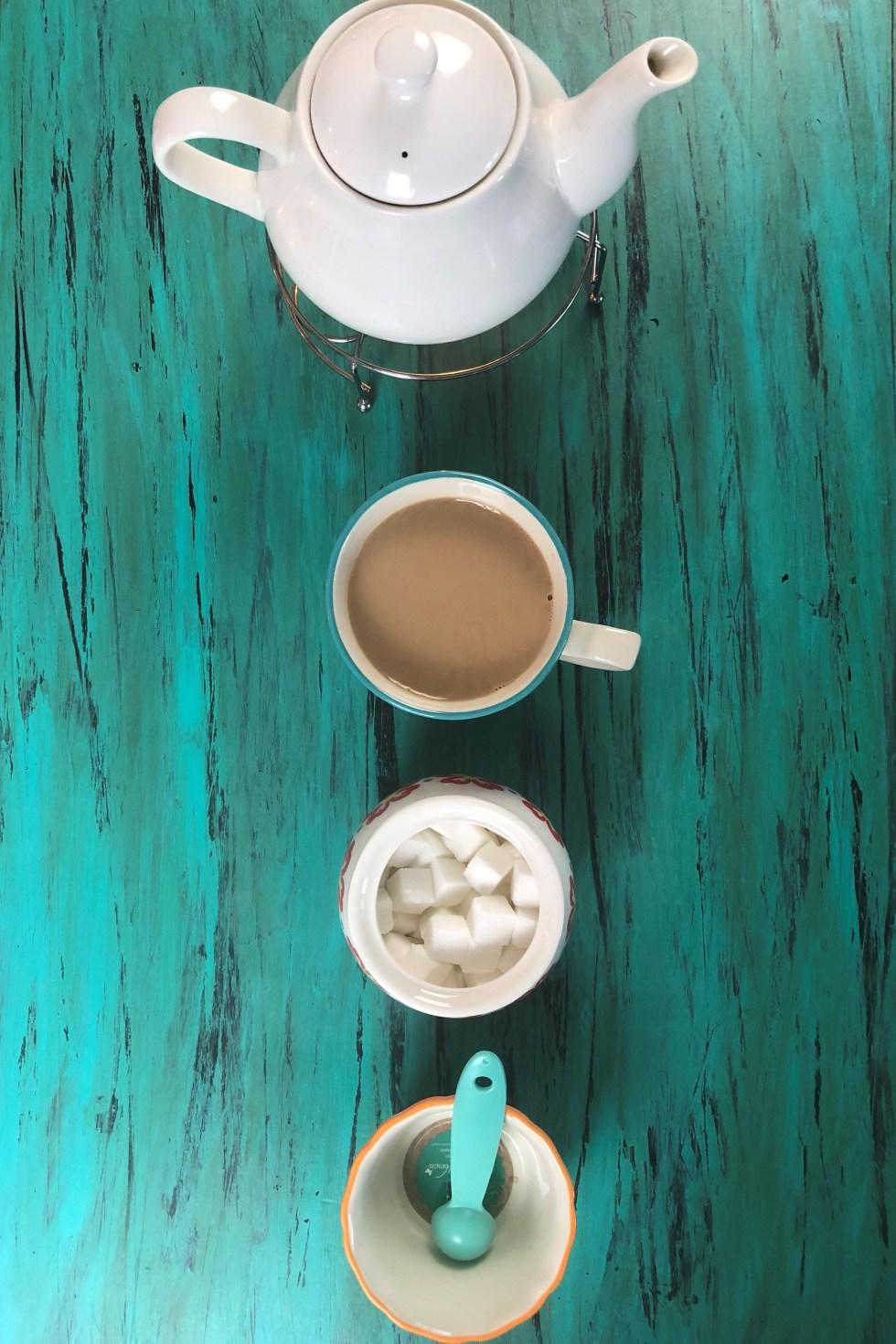 Ingredients needed to make sheer chai afghan (Cardamom Tea with milk)