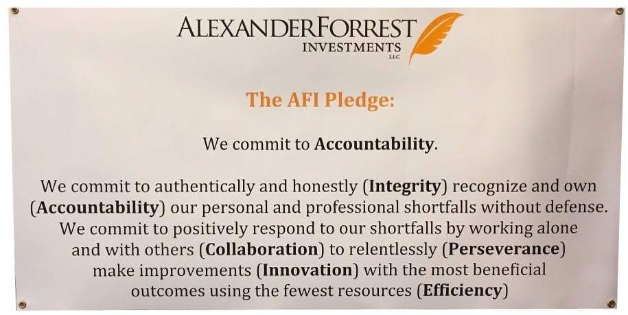 The AFI Pledge