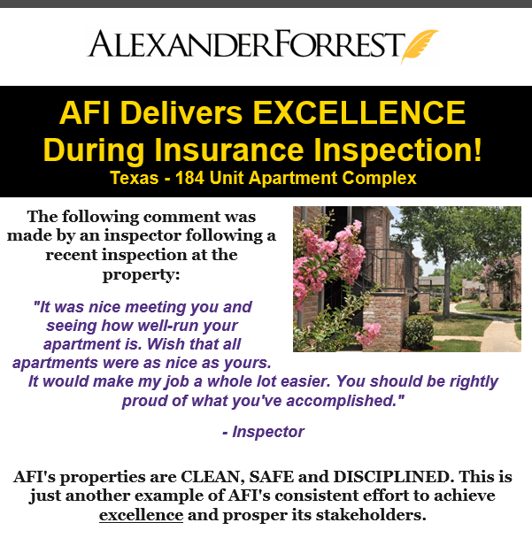 AFI WOWS Insurance Inspector!