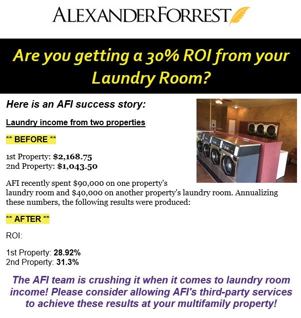 Laundry Room Earns 30% ROI!