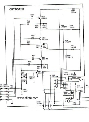 Electronic Circuit Diagram TV CRT board RGB Colour Using TR 2SC2482 | Electronic Circuit Diagram