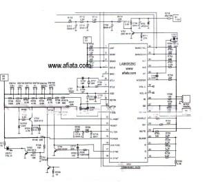 Electronic Circuit Diagram TV Program Digital Using LC863528C | Electronic Circuit Diagram and