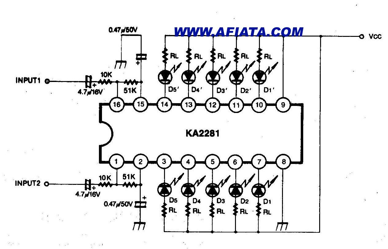 Stereo Audio Vu Meter Circuit