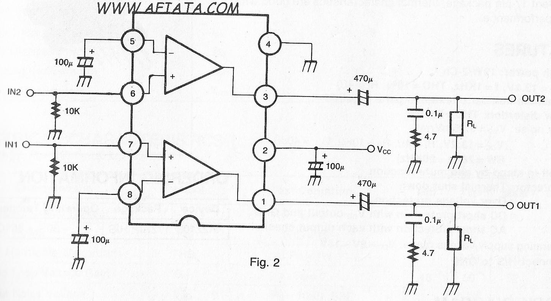 Dual Audio Power Amplifier Circuit
