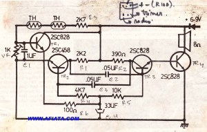 Alarm temperature circuit | Electronic Circuit Diagram and Layout