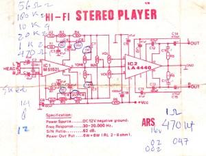 Op amp using IC M5152L and LA4440   Electronic Circuit