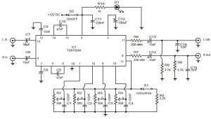 Audio preamplifier with tone control | Electronic Circuit Diagram and Layout
