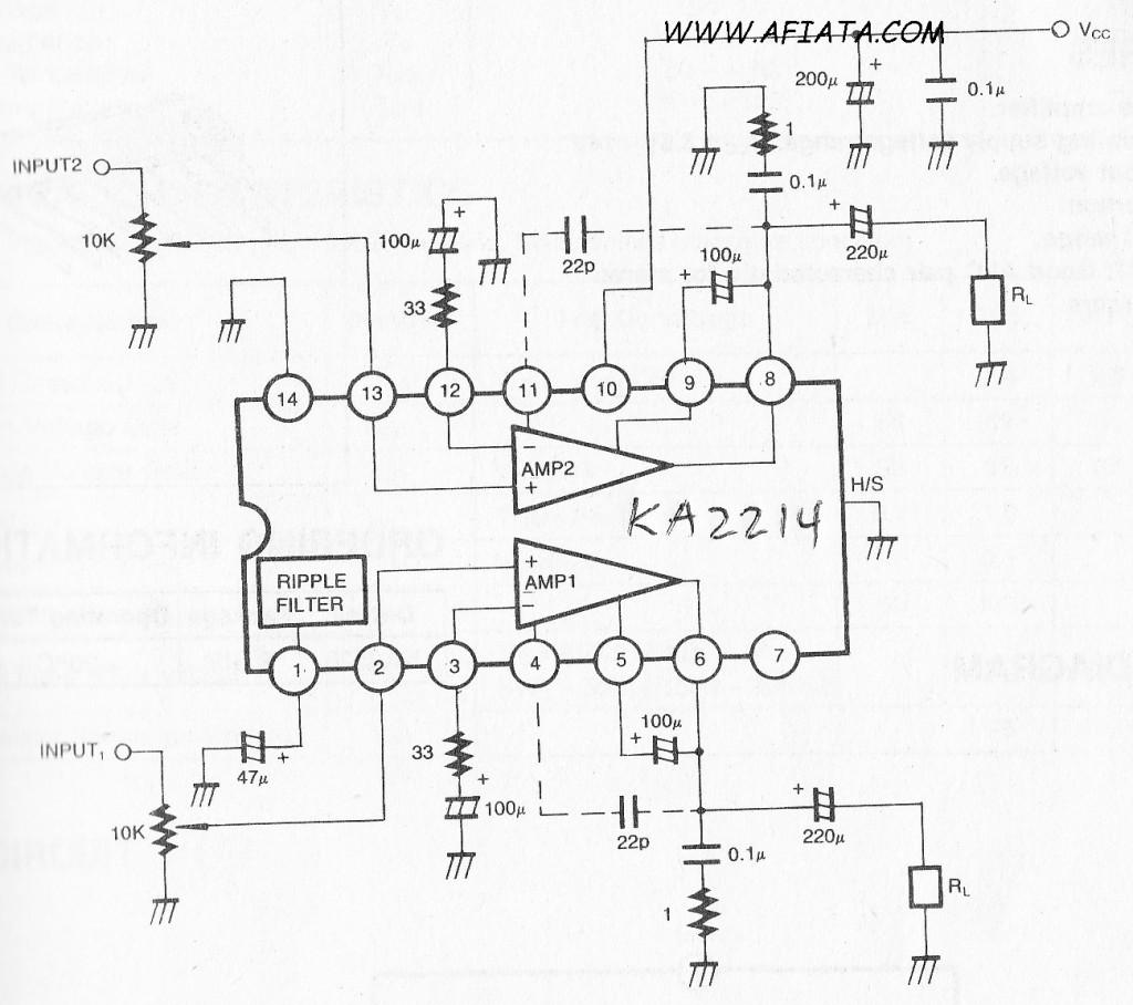 Op Amp Preamp Circuit
