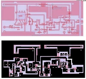 Home Theatre Audio Project | Electronic Circuit Diagram and Layout