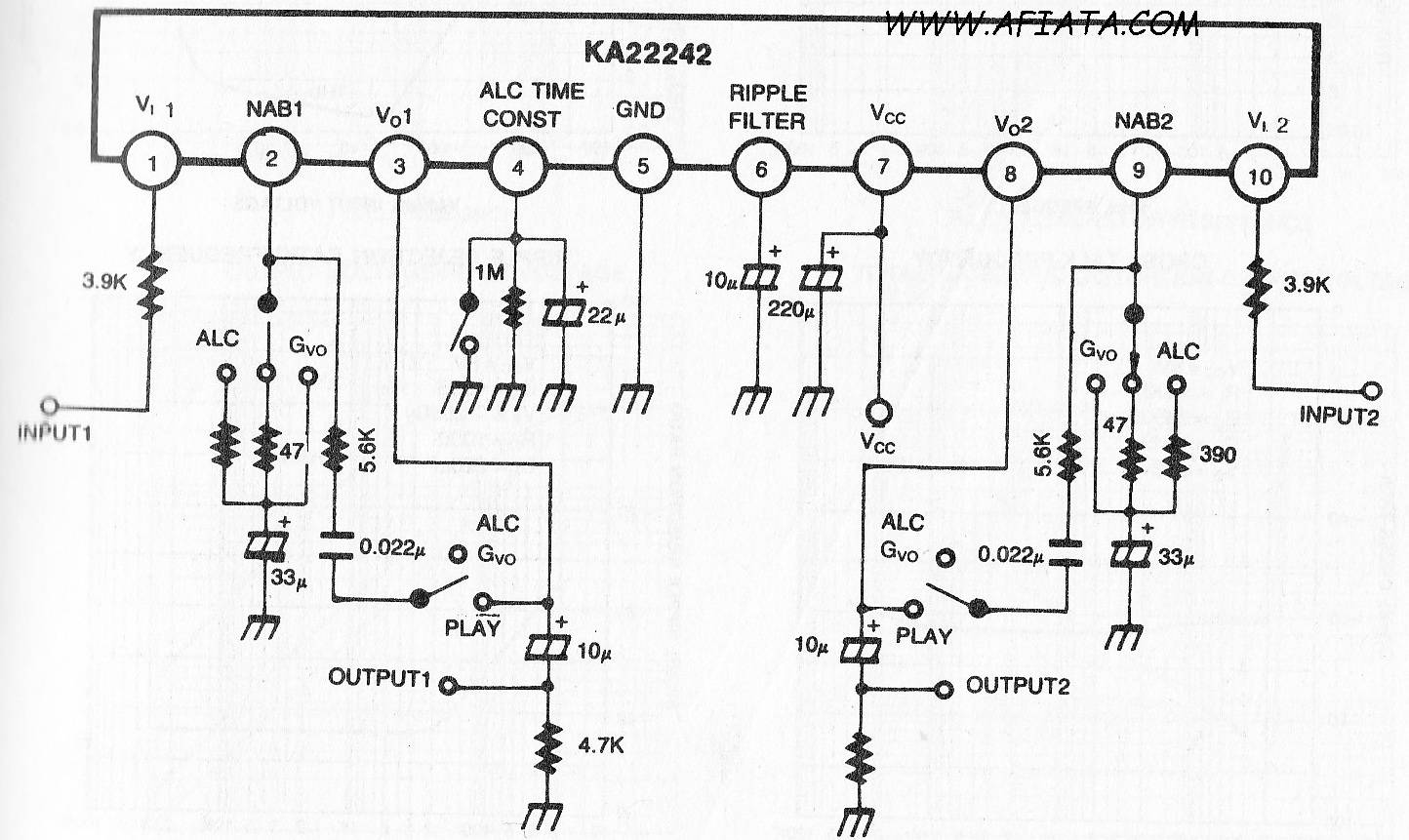 Audio Mixer Circuit Diagram