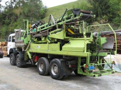 1994 - premier combiné fendeur sur camion