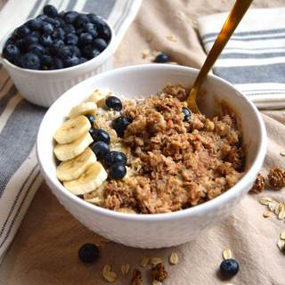 Protein Packed Blueberry Oatmeal Bowl