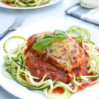 Skinny Chicken Parmesan with Zoodles