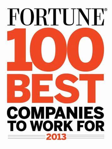 افضل 100 شركة للعمل في العالم 2013