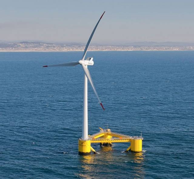 Three wind turbines a lot like this one would be installed off Spiddal, the closest 1.7km from shore