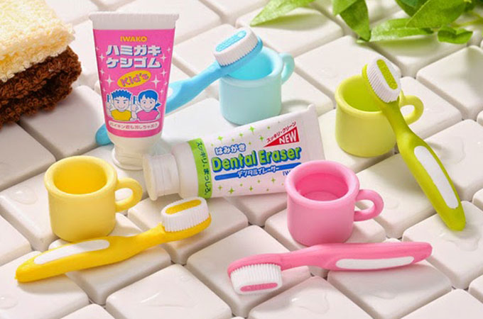 japanese-erasers-toothbrush-and-toothpaste