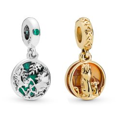 Pandora Mufasa And Simba Charm   Material 925 Sterling Silver