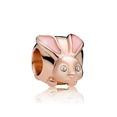 Pandora Rose Gold Bunny Charm   Material 925 Sterling Silver