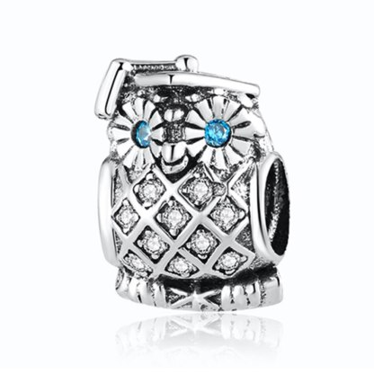 Pandora Sparkling Owl Charm | Material 925 Sterling Silver