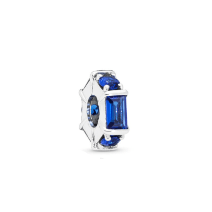 Blue Ice Cube Spacer Charm | Material 925 Sterling Silver