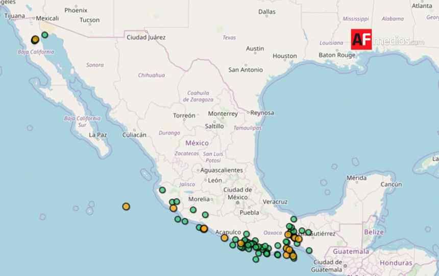 sismos 26noviembre - En lo que va del día 10 sismos magnitud mayor a 4, uno en Manzanillo; no se reportan daños