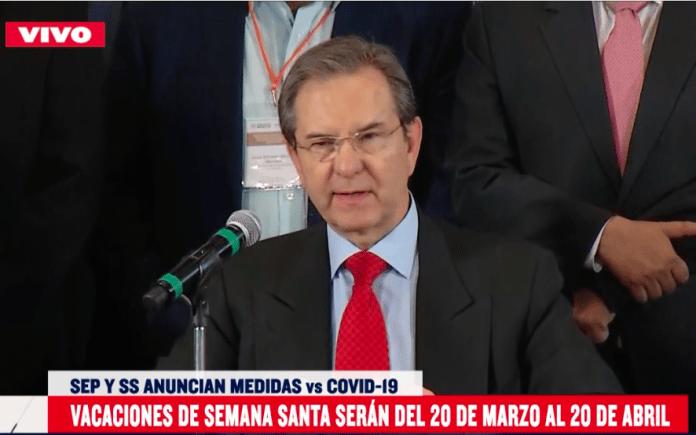Captura de pantalla 2020 03 14 a las 14.10.55 696x435 - Se adelantan vacaciones de Semana Santa en México por COVID-19 - #Noticias
