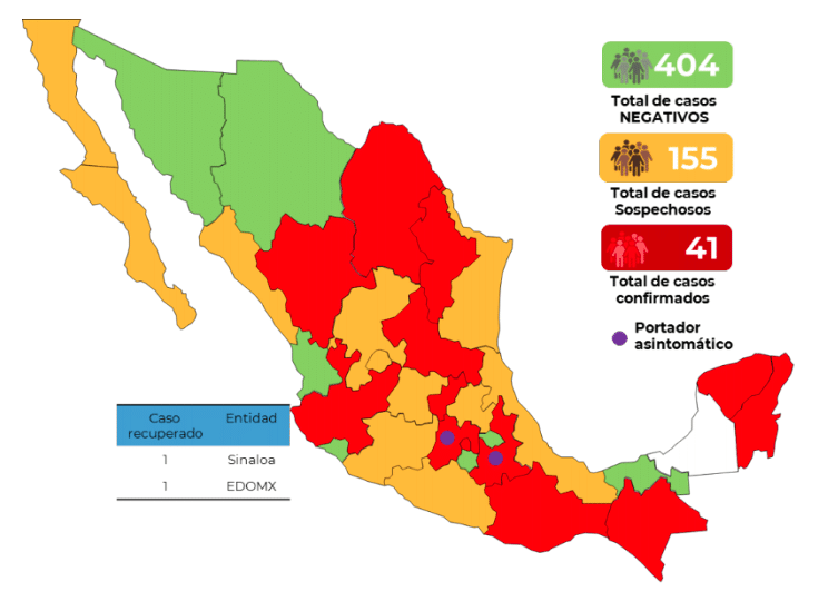 Captura de pantalla 2020 03 14 a las 20.13.34 - Salud confirma aumento a 41 casos por COVID-19 en México
