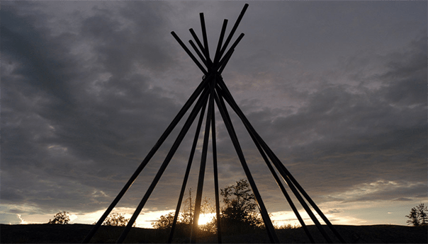 teepee-sunset