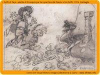 Il Flauto a sei puffi - originale di Franquin - click