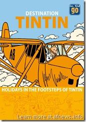 Copertina della brochure di On the go tours - © Hergé-Moulinsart 2010 per quanto di sua competenza