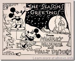 1930s_christmas_card_unused Natale Disney