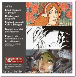 AstaLittleNemo2011 - in copertina Guido Crepax e Massimiliano Frezzato