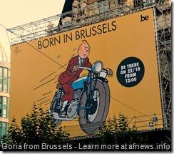Tintin born in Brussels