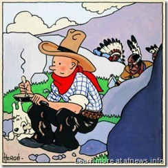 TintinAmericaCoverOriginaleArtcurial