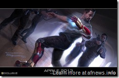 """Iron Man 3""  ""In Iron Man 3, Tony Stark suffers his most devastating attack, and must rely on his greatest assets, his ingenuity and instincts.""  Artist: Ryan Meinerding  TM & © 2012 Marvel & Subs. All rights reserved. www.marvel.com www.ironmanmovie3.com"
