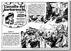 1 - l'assalto dei barbareschi all'isola di San Pietro, nei disegni Nico Lubatti tratto da Le Belve di Algeri di Salgari (s)