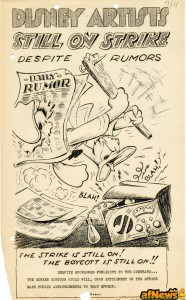 another-flier-featuring-a-frustrated-donald-duck-alerting-that-the-strike-was-still-ongoing