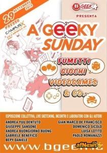 A GEEKY SUNDAY - LOCANDINA