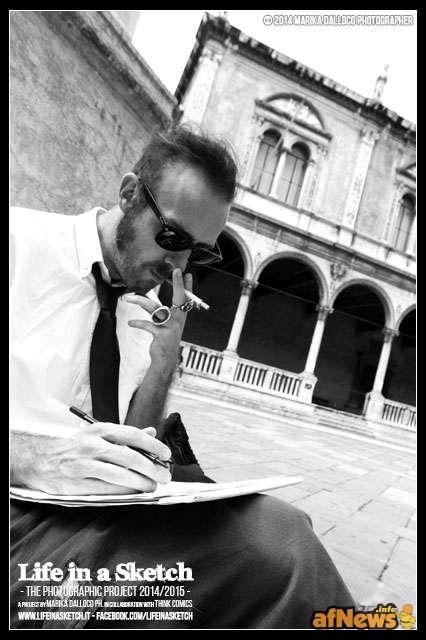"""""""King"""" Simon Panella a Verona per il progetto Life in a Sketch"""