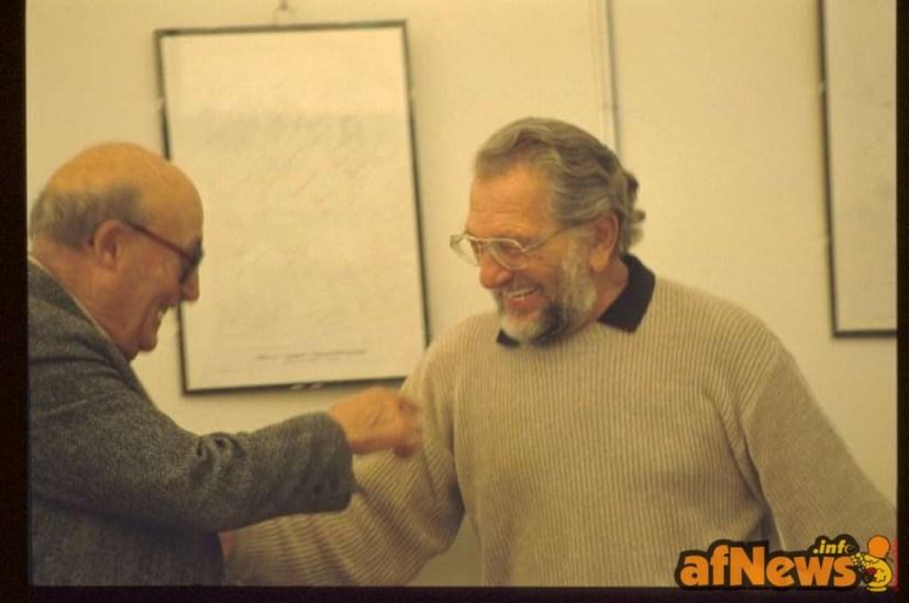 Will Eisner e Joe Kubert - foto Gianfranco Goria