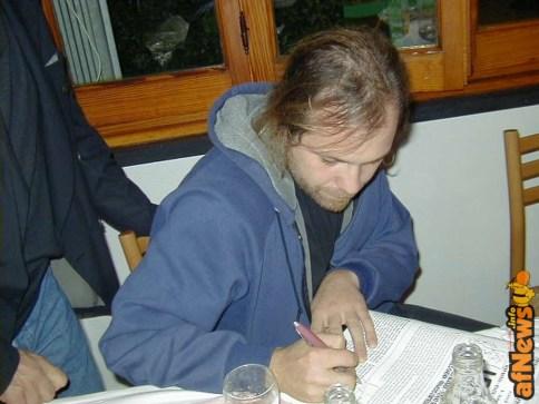 Davide Toffolo in una fotografia di Gianfranco Goria del 2000, a Rapallo da u Giancu - https://www.flickr.com/photos/gianfrancogoria/2373570822/
