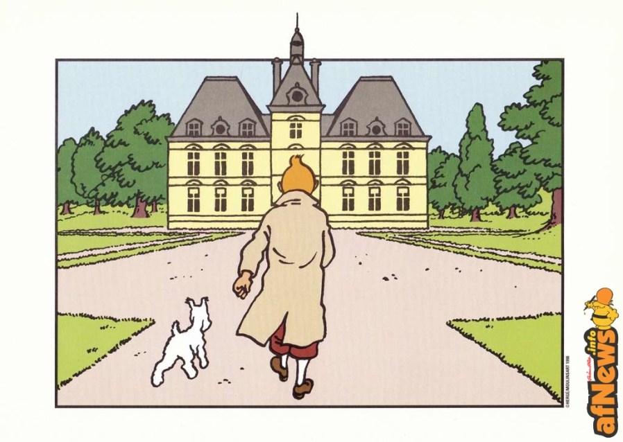 Il castello di Moulinsart - copyright Hergé/Moulinsart