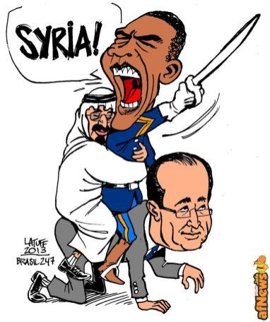 US France Saudi Arabia intervention on Syria-afnews