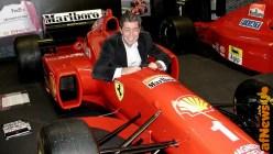 Guido Silvestri, in arte Silver, al volante della Ferrari- foto Gianfranco Goria 2002.