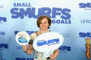 NEW YORK, NY - MARCH 18: Under-Secretary-General for Communications and Public Information Cristina Gallach poses at the United Nations Headquarters celebrating International Day of Happiness in conjunction with SMURFS: THE LOST VILLAGE on March 18, 2017 in New York City. (Photo by Andrew Toth/Getty Images for Sony Pictures)