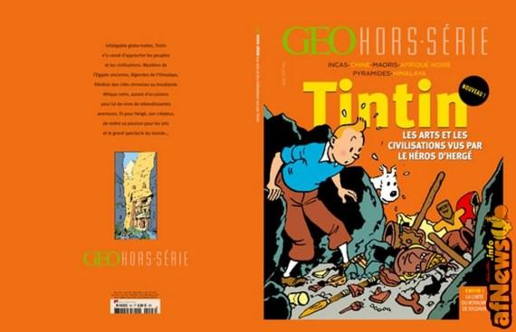 Uno dei tanti volumi con Tintin