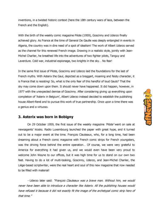 Belgian Comics Art Museum exhibit Asterix in Belgium - PRESS-8-afnews