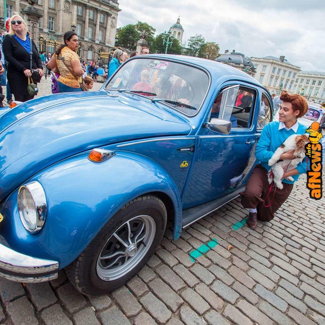 Le Rallye Tintin qui défile sur la Place Royale a toujours beaucoup de succès - copyright VistBrussels