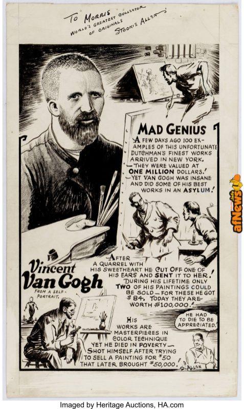 Benjamin Stookie Allen Mad Genius Comics Page Original Art